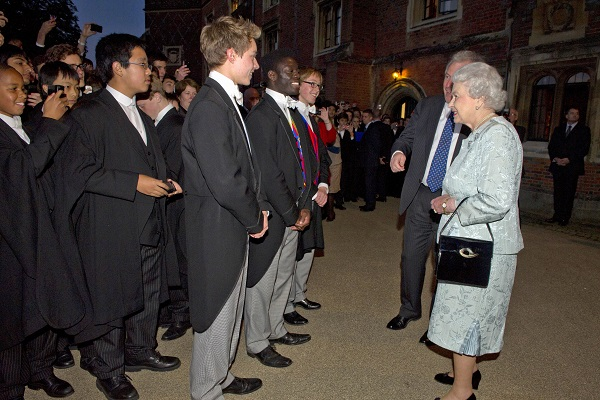 Queen Elizabeth II And The Duke Of Edinburgh Visit Eton College